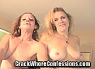 Two Crack Whores Giving a Double Blowjob